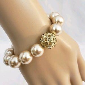 Women Pearl Stretch Bracelet Fashion Jewelry